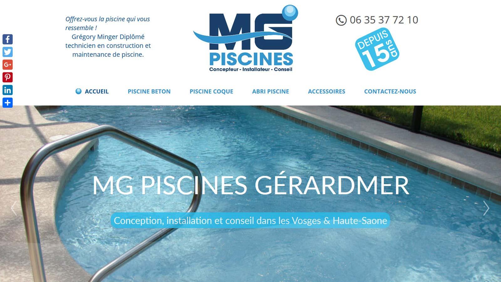 Mg piscines piscinier g rardmer construction en b ton for Piscine gerardmer