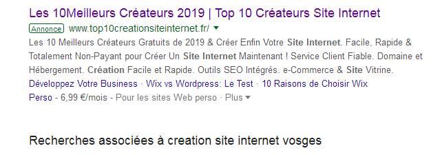 meilleur createur site internet vosges